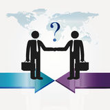 Meeting. Business meeting two important persons - abstract concept Royalty Free Stock Photo