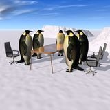 Meeting. Business Meeting for the Penguin Company Royalty Free Stock Image