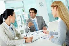 At meeting Stock Photo