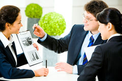 At meeting Stock Images
