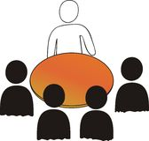 Meeting: 5 persons vector illustration