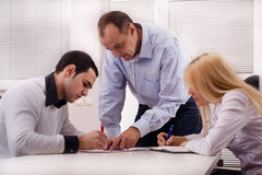Meeting. 3 business people on the meeting Royalty Free Stock Image