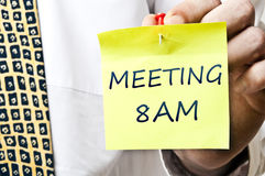 Meeting at 8 AM Royalty Free Stock Photography