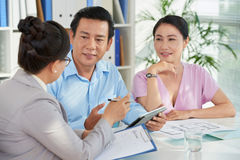 Meeting with advicer Royalty Free Stock Image