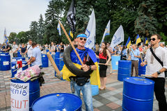 Meeting against corruption in Kiev Royalty Free Stock Photo