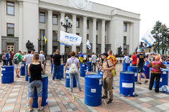 Meeting against corruption in Kiev Stock Photos