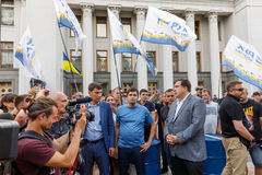 Meeting against corruption in Kiev Royalty Free Stock Images