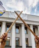 Meeting against corruption in Kiev Stock Image