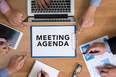 MEETING AGENDA Stock Photography