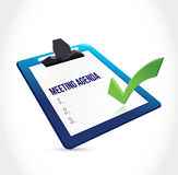 Meeting agenda clipboard illustration Royalty Free Stock Image