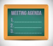Meeting agenda list illustration Stock Images