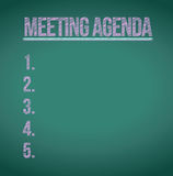 Meeting agenda list illustration design Stock Image