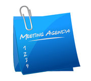 meeting agenda memo post illustration Royalty Free Stock Images