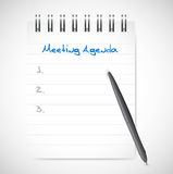 Meeting agenda notepad illustration design Royalty Free Stock Photography