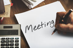 Meeting Appointment Memo Reminder Handwritten Graphic Concept Royalty Free Stock Images