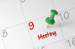 Meeting Appointment Reminder Royalty Free Stock Photography