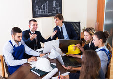 Meeting of architectors indoors Stock Image