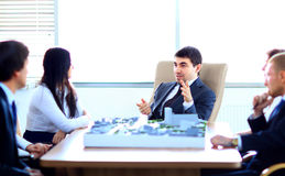 Meeting In Architects Office Royalty Free Stock Image