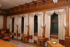 Meeting area. A meeting area from Pelisor Castle in Sinaia, Romania royalty free stock photos