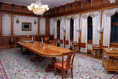 Meeting area. A meeting area from Pelisor Castle in Sinaia, Romania stock images
