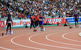 MEETING AREVA, Paris IAAF Diamond League. MEETING AREVA, Paris Diamond League competition on 04 July, 2015 stock image