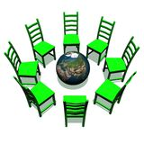 Meeting around earth Stock Images