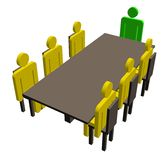 Meeting around a table royalty free stock image