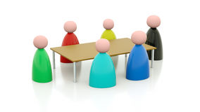 Meeting around table. Illustration of a meeting around a table Royalty Free Stock Images