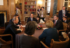 Meeting on ASEM summit of European and Asian leaders Stock Photos