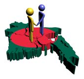 Meeting with Bangladesh map flag Stock Photo