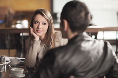 Meeting at the bar Stock Photography