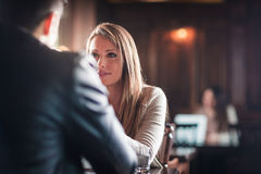 Meeting at the bar Royalty Free Stock Images