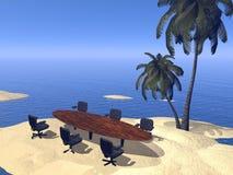 Meeting at the beach - 3D render Stock Photos