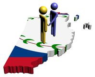 Meeting on Belize map flag Stock Photo