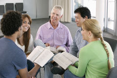 Meeting Of Bible Study Group Stock Photos