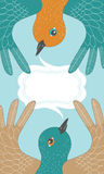 Meeting Birds vector illustration