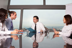 Meeting in boardroom office Royalty Free Stock Photo