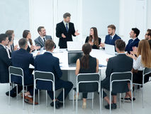 Meeting Brainstorm Round Table Ideas Communication Discussion Co Stock Images