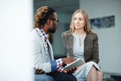 Meeting with business partner Royalty Free Stock Photo