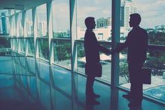 Meeting business partner Stock Image