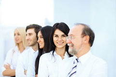 Meeting business partners in the office Stock Image