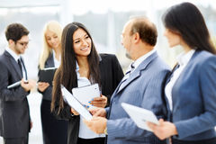Meeting business partners Stock Photography