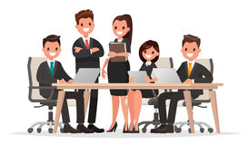 Meeting business people. Teamwork. Discussion of the company`s b Stock Photos