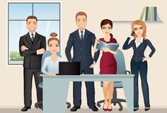 Meeting business people. Teamwork. Office team discussing and brainstorming in meeting room. Royalty Free Stock Image