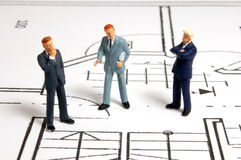 Meeting of businessman on architecture plan Stock Photo
