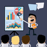 Meeting businessman pointing presentation Royalty Free Stock Images