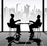 Meeting in cafe Royalty Free Stock Images