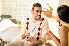 Meeting at a cafe Stock Photos