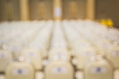 Meeting chair. Blur bokeh chair along with the images. The meeting was arranged in an orderly manner Royalty Free Stock Photo
