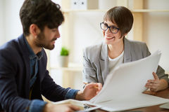 Meeting Client in Modern Office Stock Photos